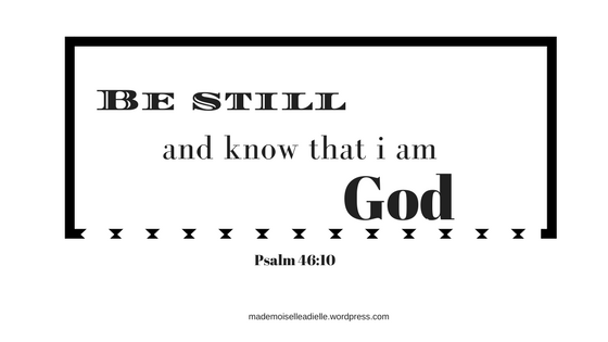 "He makes wars cease to the ends of the earth. He breaks the bow and shatters the spear; he burns the shields[a] with fire. 10 He says, ""Be still, and know that I am God; I will be exal"